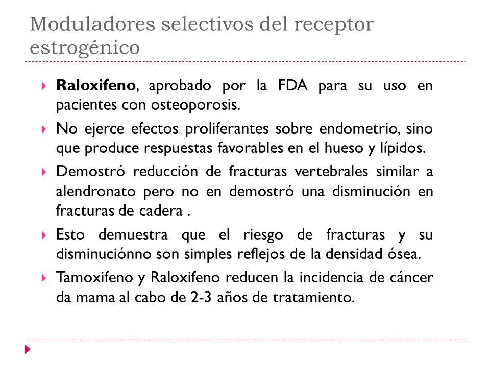 Moduladores selectivos del receptor estrogénico