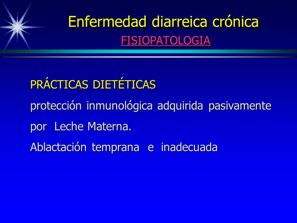 Enfermedad diarreica crónica FISIOPATOLOGIA