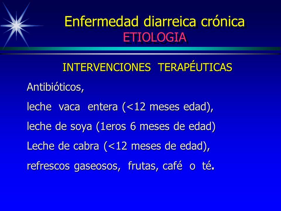 Enfermedad diarreica crónica ETIOLOGIA