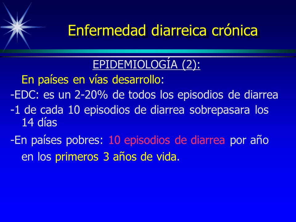 Enfermedad diarreica crónica