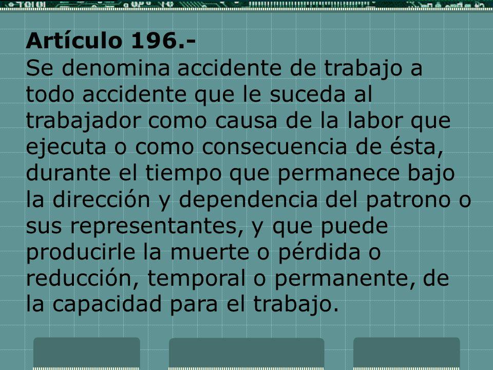 Artículo 196.-