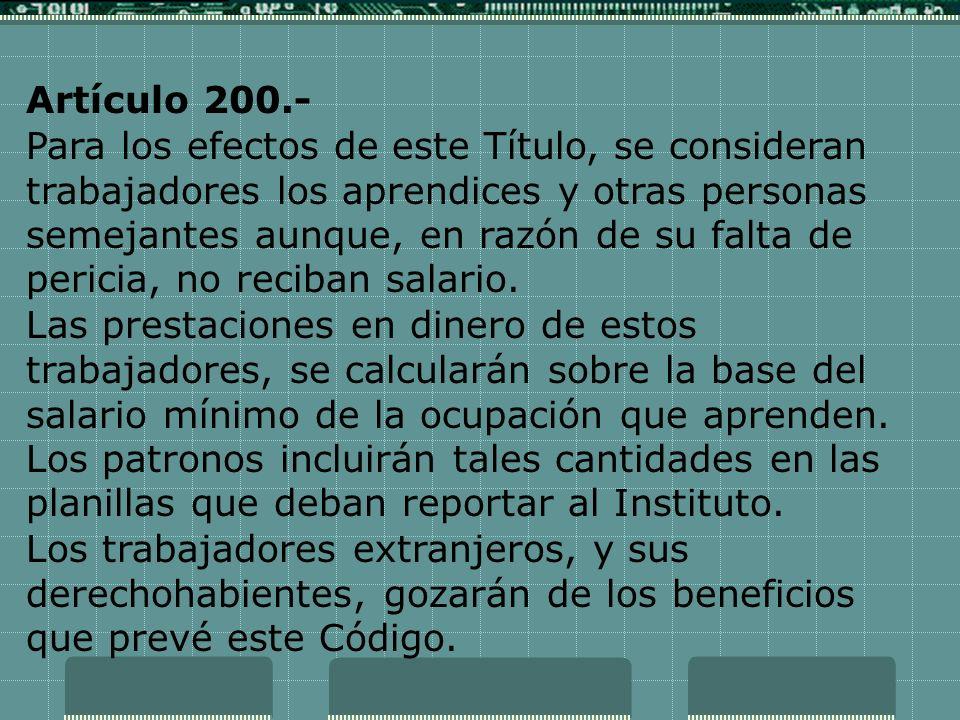 Artículo 200.-