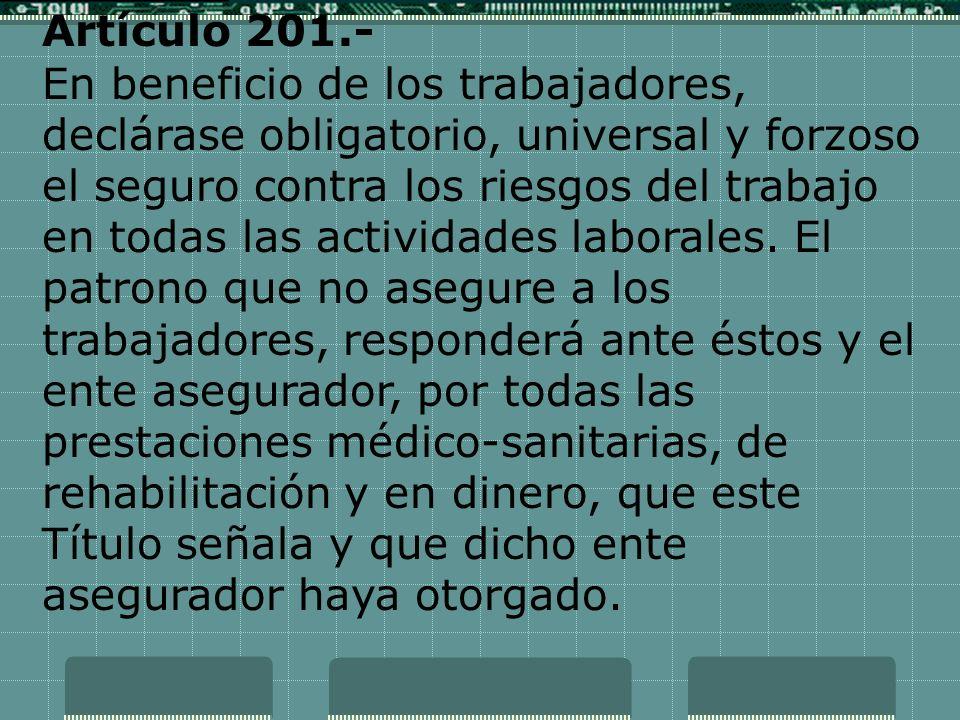 Artículo 201.-