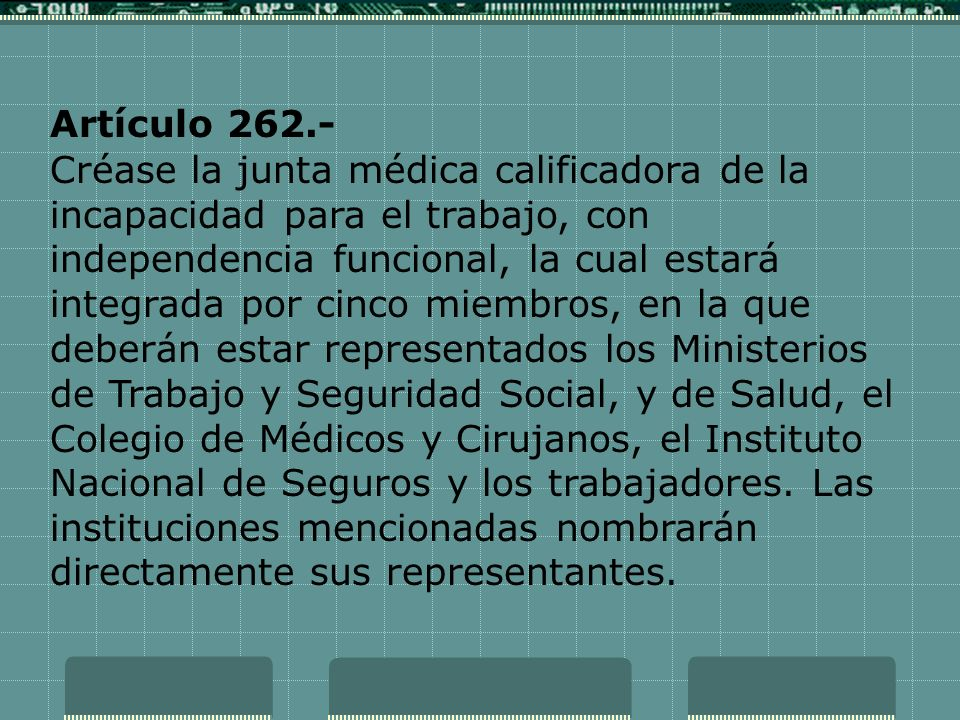 Artículo 262.-