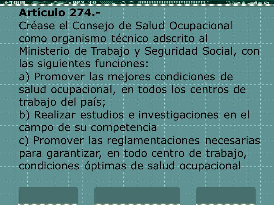 Artículo 274.-