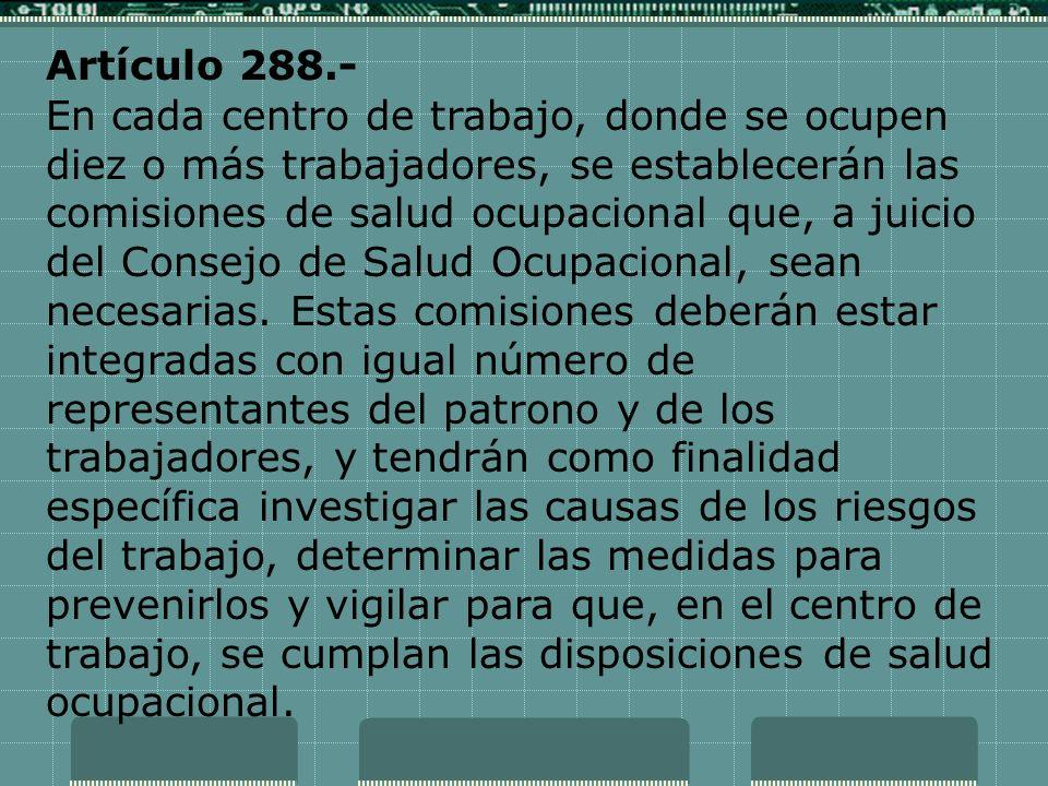 Artículo 288.-