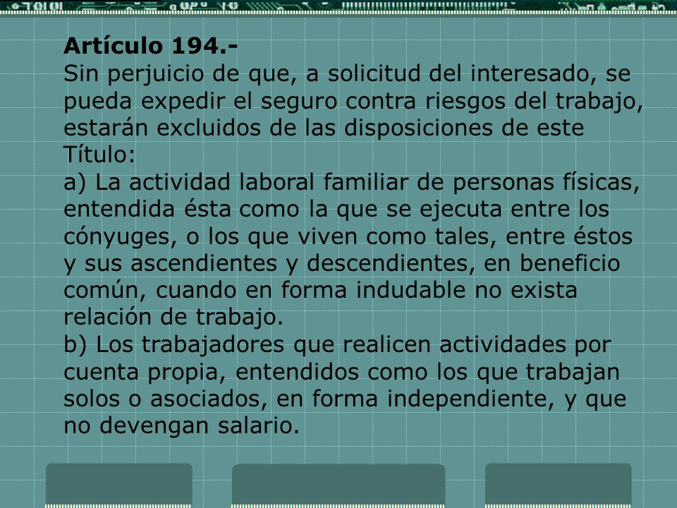 Artículo 194.-