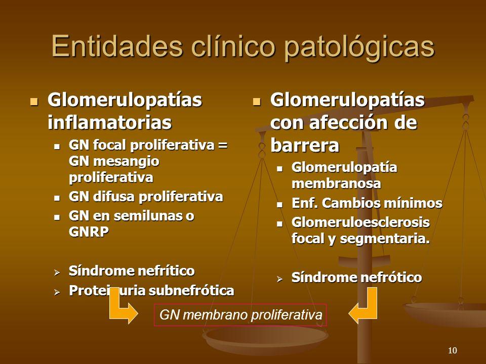 Entidades clínico patológicas