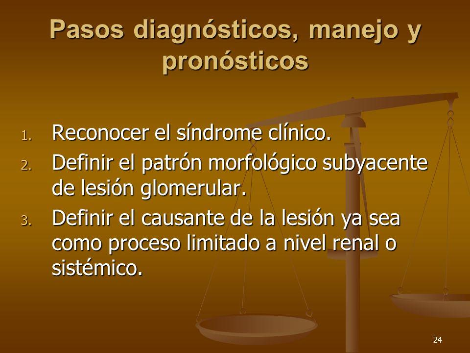 Pasos diagnósticos, manejo y pronósticos