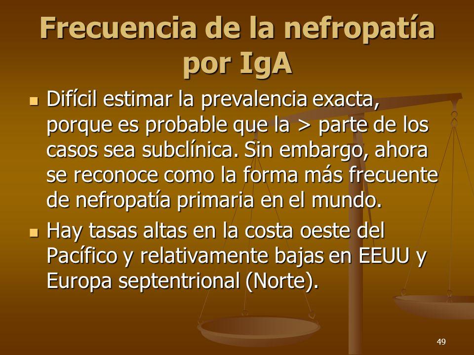 Frecuencia de la nefropatía por IgA