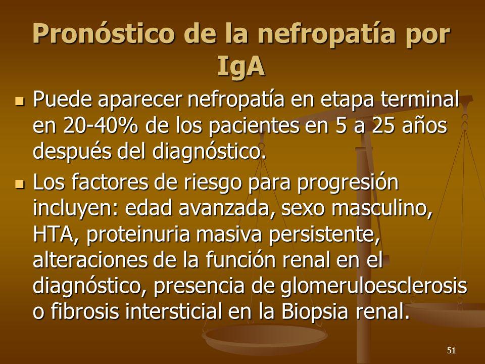 Pronóstico de la nefropatía por IgA