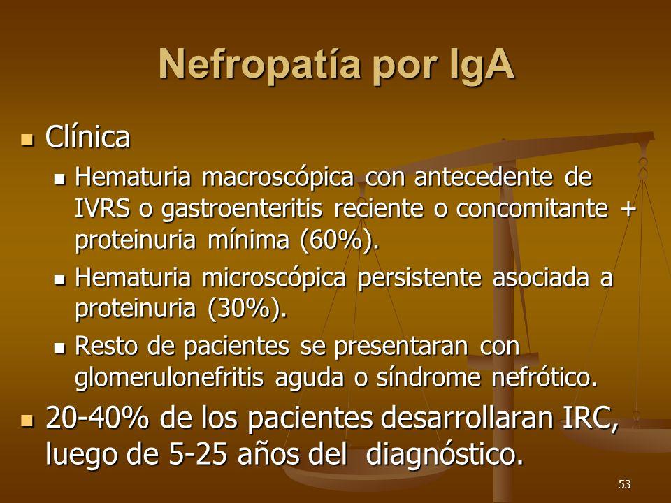 Nefropatía por IgA Clínica