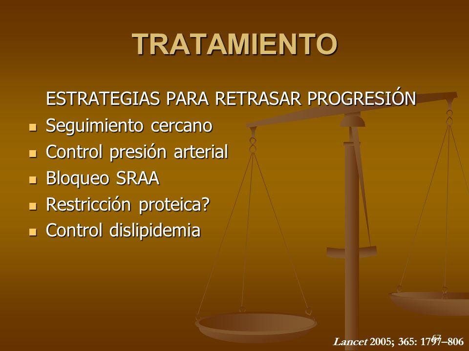 TRATAMIENTO ESTRATEGIAS PARA RETRASAR PROGRESIÓN Seguimiento cercano