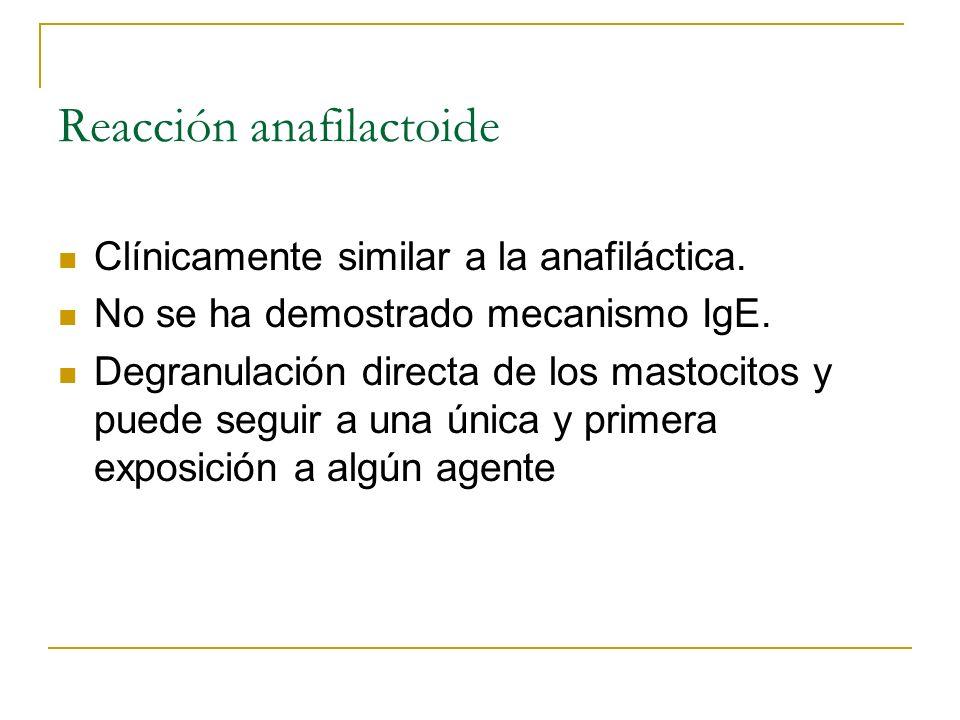 Reacción anafilactoide
