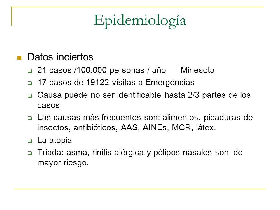 Epidemiología Datos inciertos