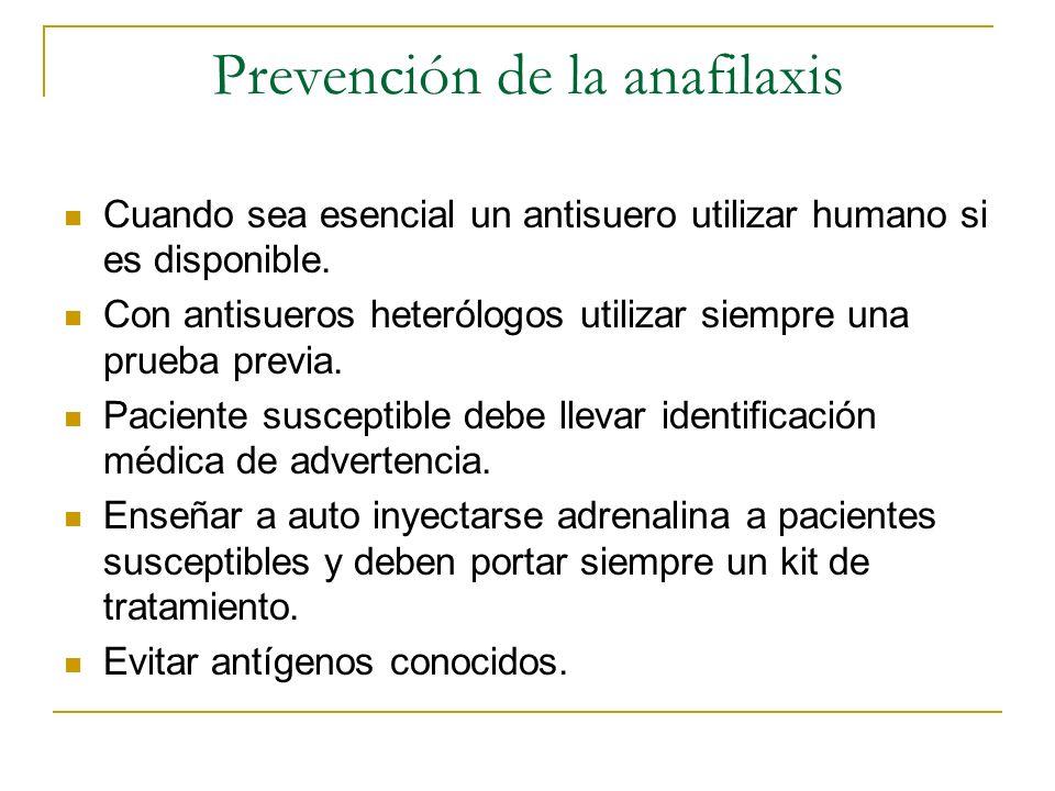 Prevención de la anafilaxis