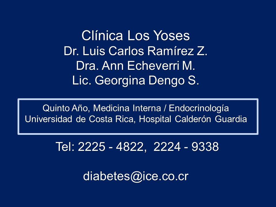 Clínica Los Yoses Dr. Luis Carlos Ramírez Z. Dra. Ann Echeverri M.