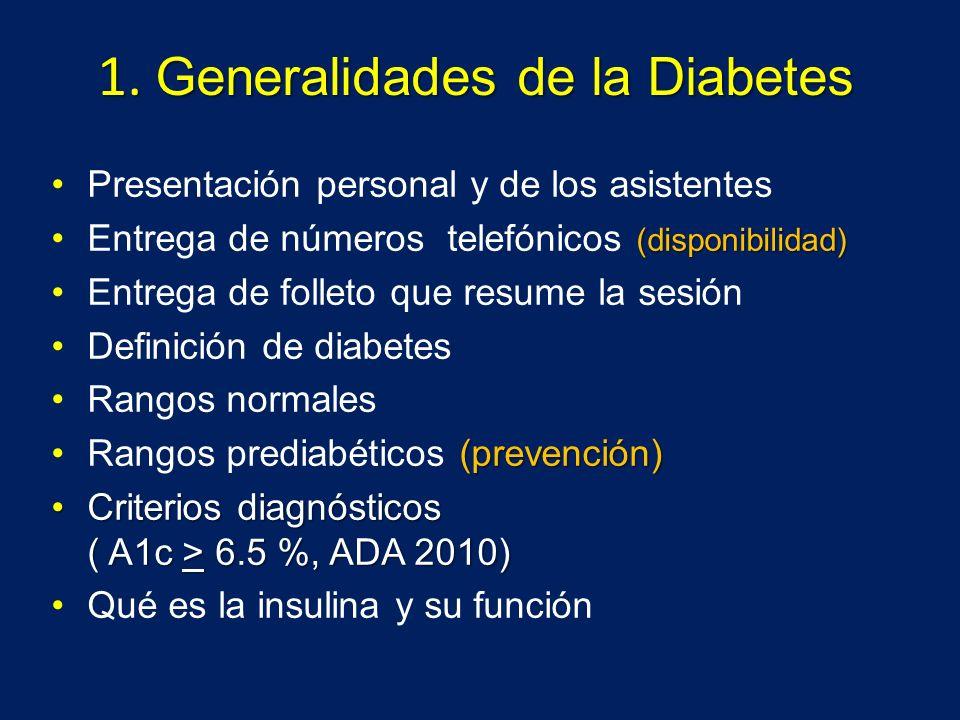 1. Generalidades de la Diabetes