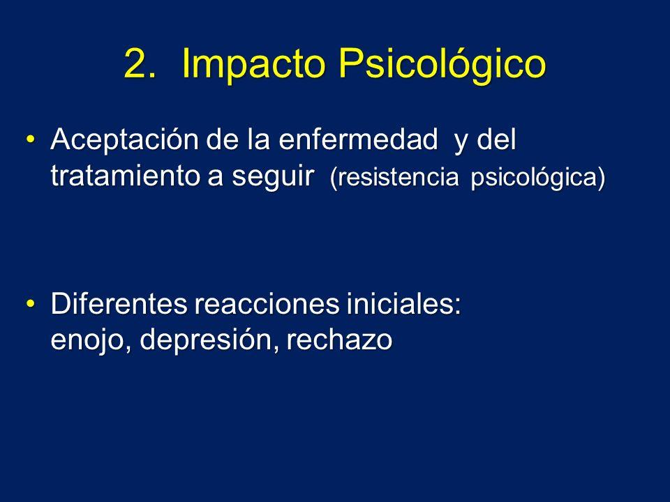 2. Impacto Psicológico Aceptación de la enfermedad y del tratamiento a seguir (resistencia psicológica)