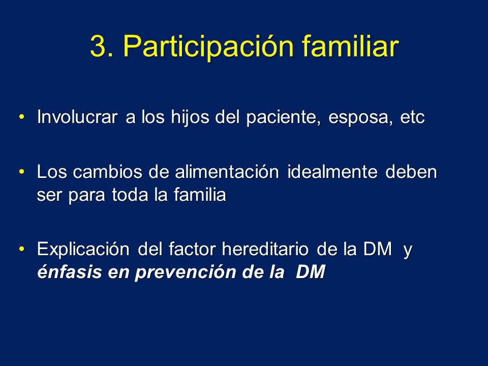 3. Participación familiar