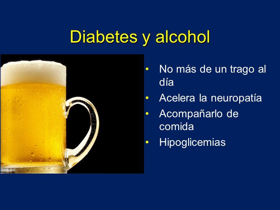 Diabetes y alcohol No más de un trago al día Acelera la neuropatía