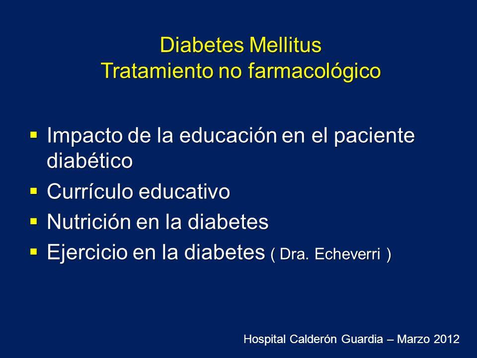 Diabetes Mellitus Tratamiento no farmacológico