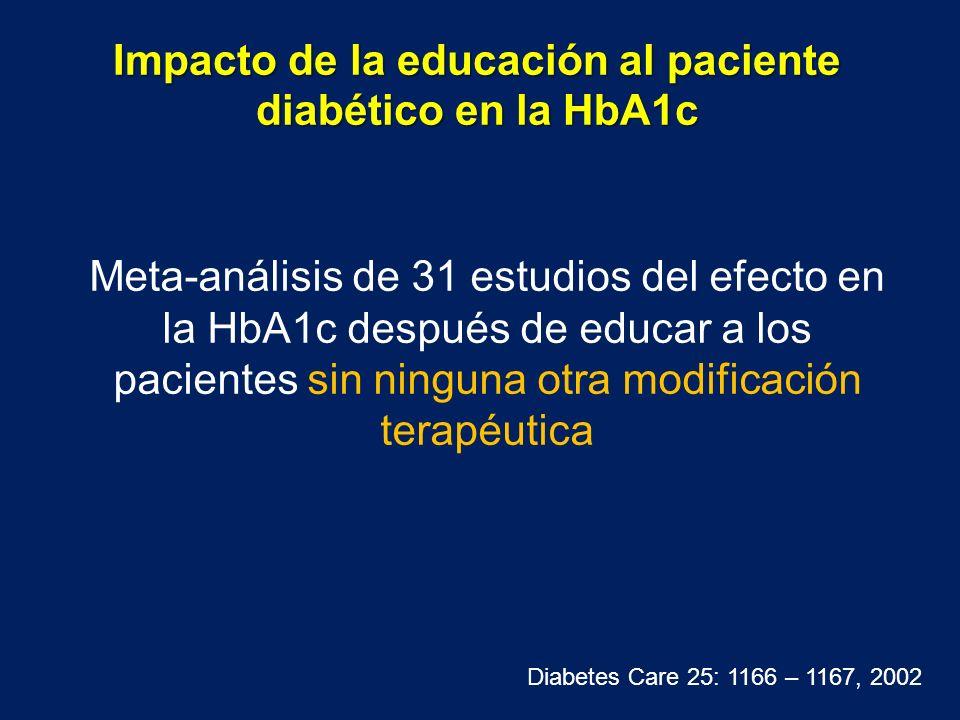 Impacto de la educación al paciente diabético en la HbA1c