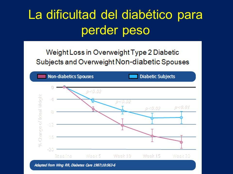 La dificultad del diabético para perder peso