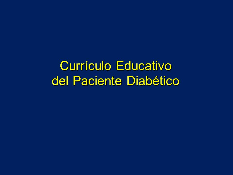 Currículo Educativo del Paciente Diabético