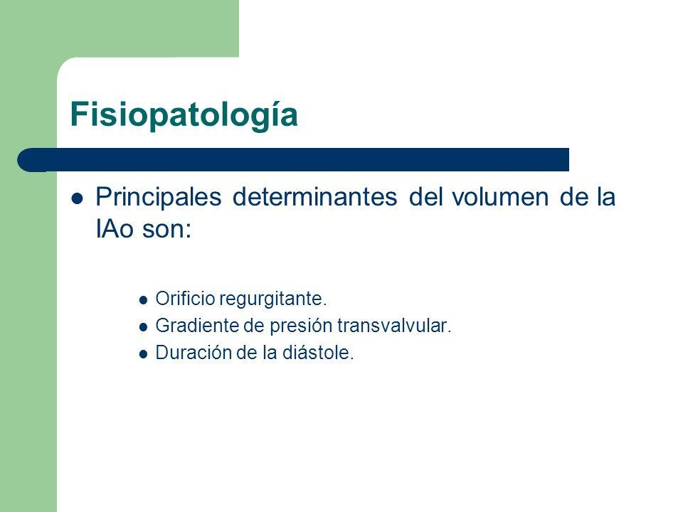 Fisiopatología Principales determinantes del volumen de la IAo son: