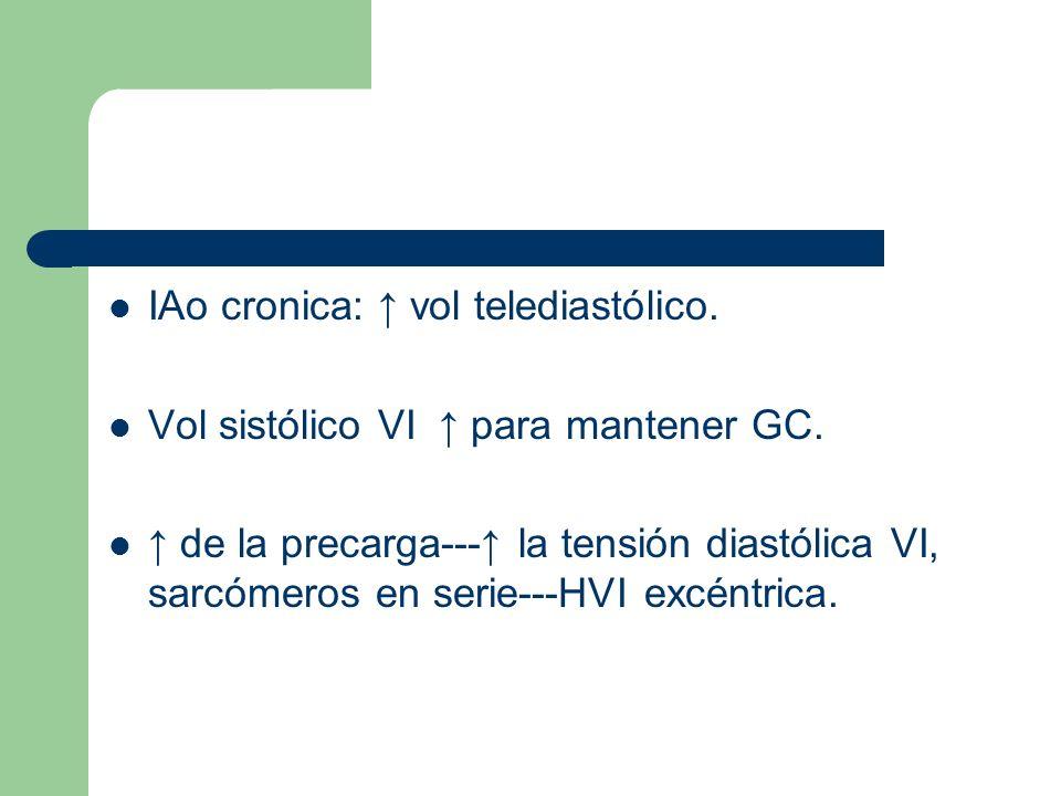 IAo cronica: ↑ vol telediastólico.