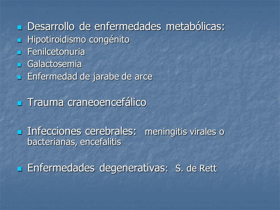 Desarrollo de enfermedades metabólicas: