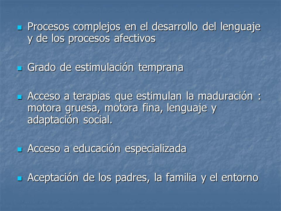Procesos complejos en el desarrollo del lenguaje y de los procesos afectivos