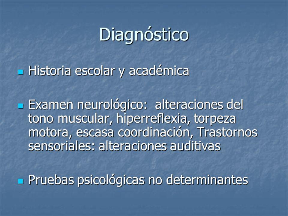 Diagnóstico Historia escolar y académica