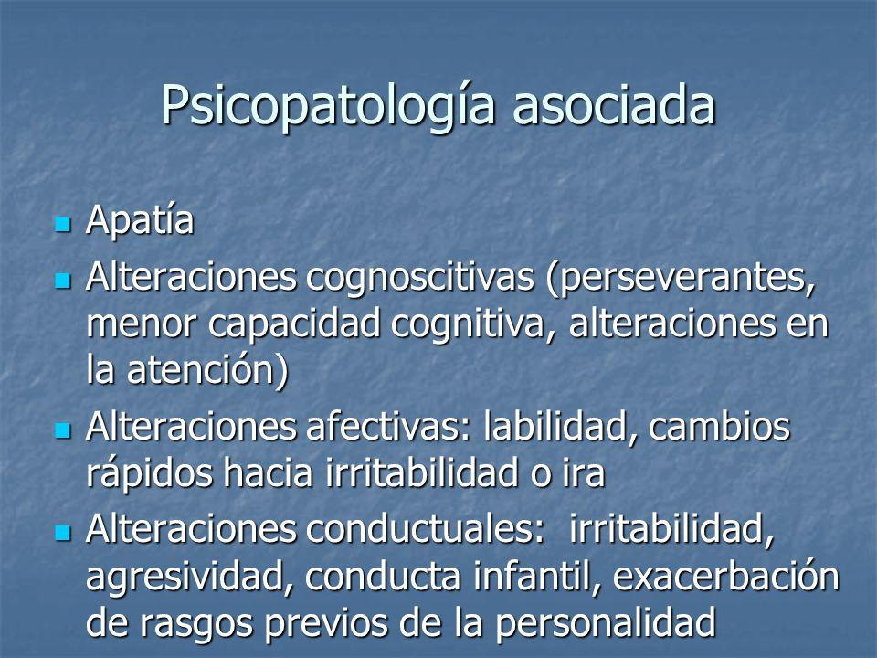 Psicopatología asociada