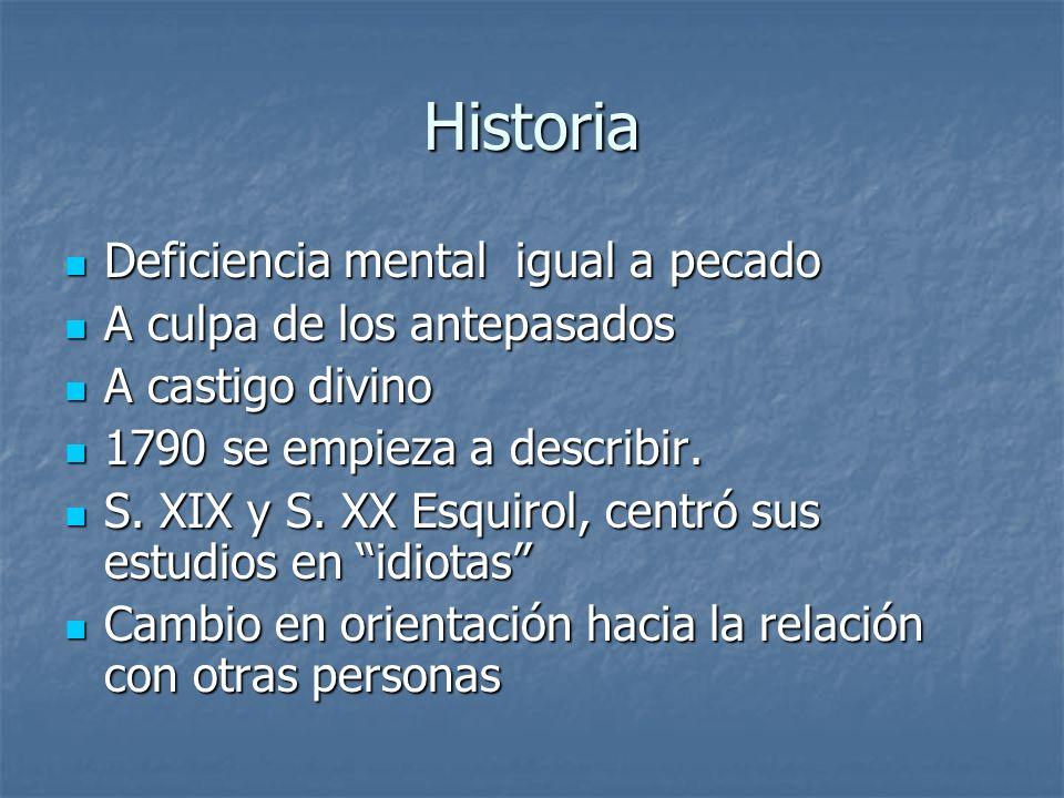 Historia Deficiencia mental igual a pecado A culpa de los antepasados