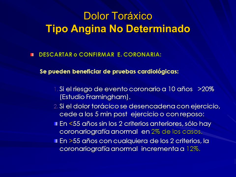 Dolor Toráxico Tipo Angina No Determinado