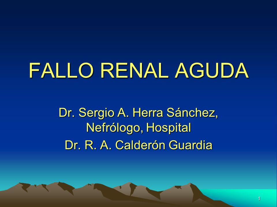 Dr. Sergio A. Herra Sánchez, Nefrólogo, Hospital