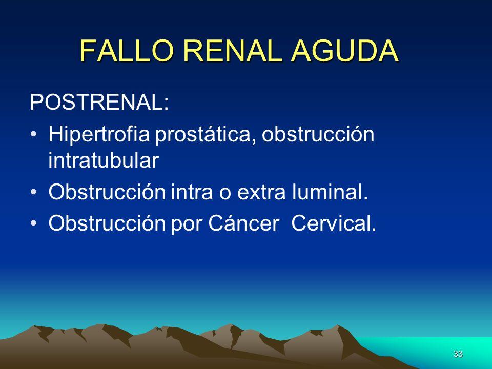 FALLO RENAL AGUDA POSTRENAL: