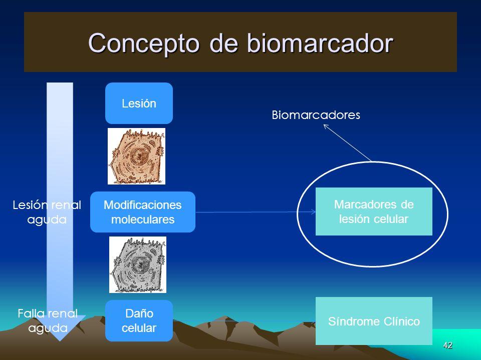 Concepto de biomarcador