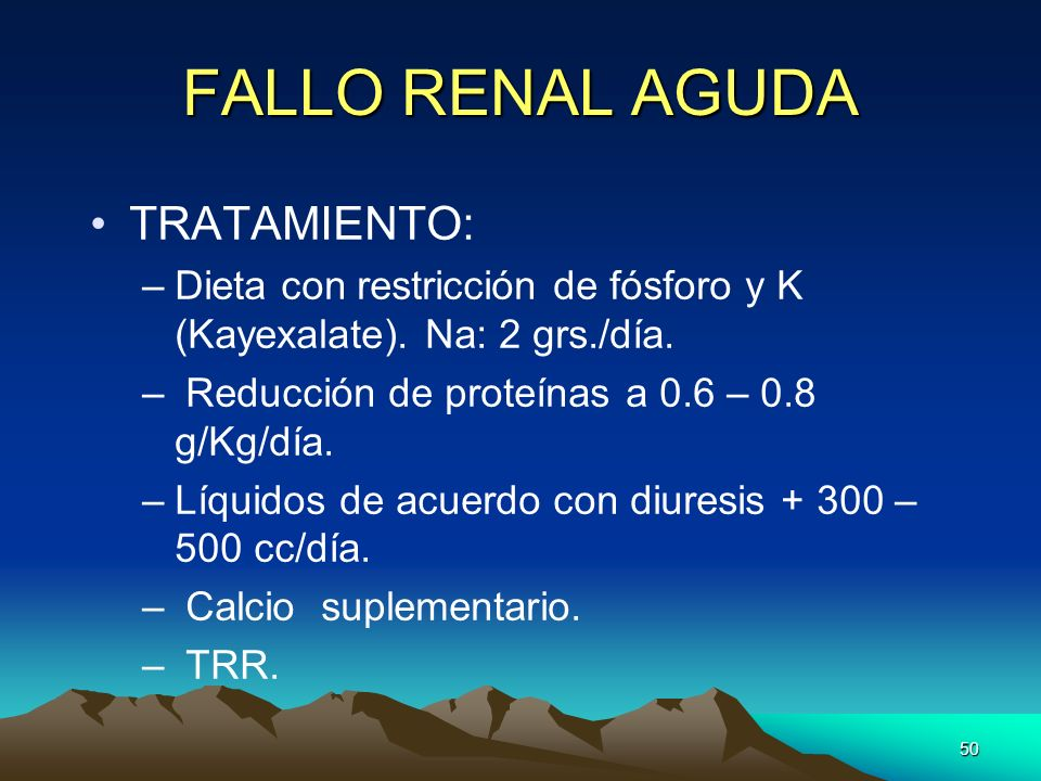 FALLO RENAL AGUDA TRATAMIENTO: