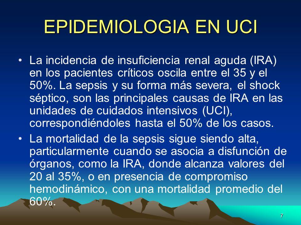 EPIDEMIOLOGIA EN UCI