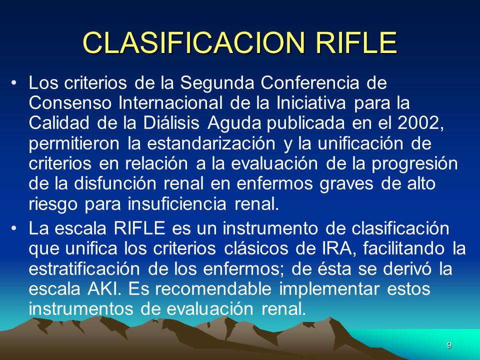 CLASIFICACION RIFLE