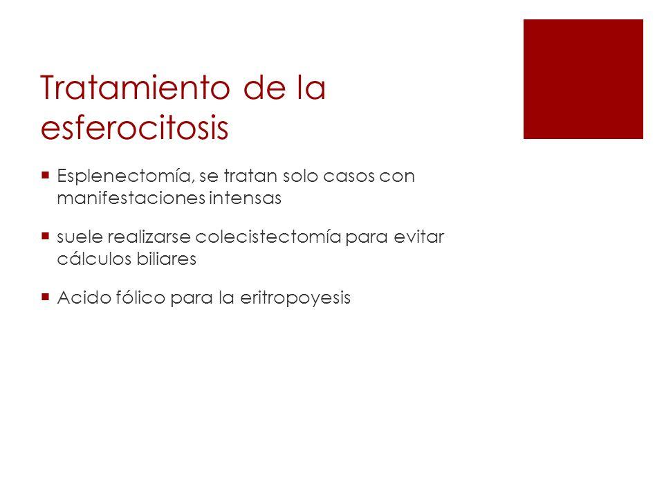 Tratamiento de la esferocitosis