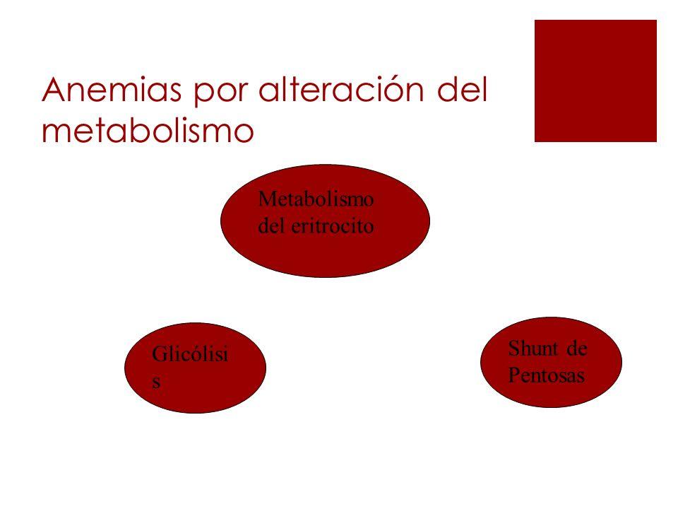 Anemias por alteración del metabolismo