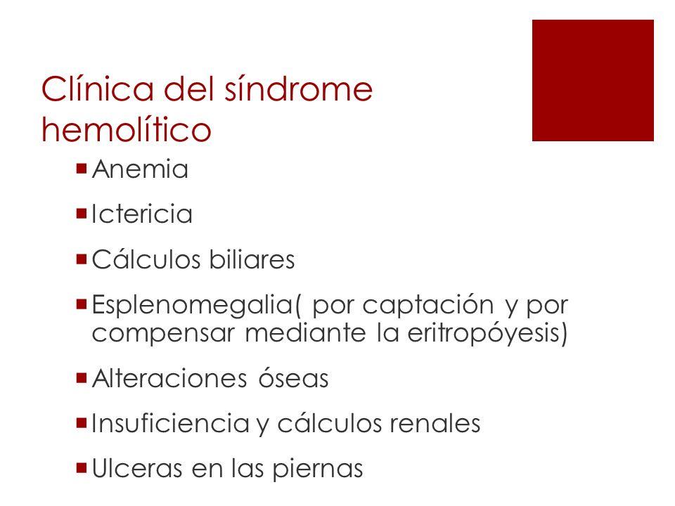 Clínica del síndrome hemolítico