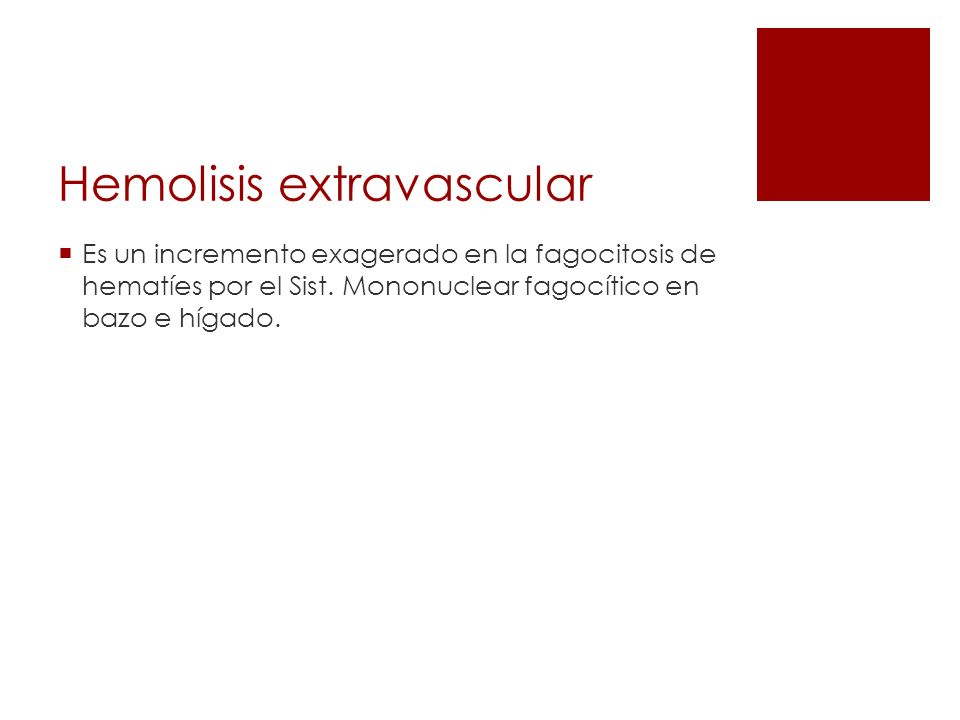 Hemolisis extravascular