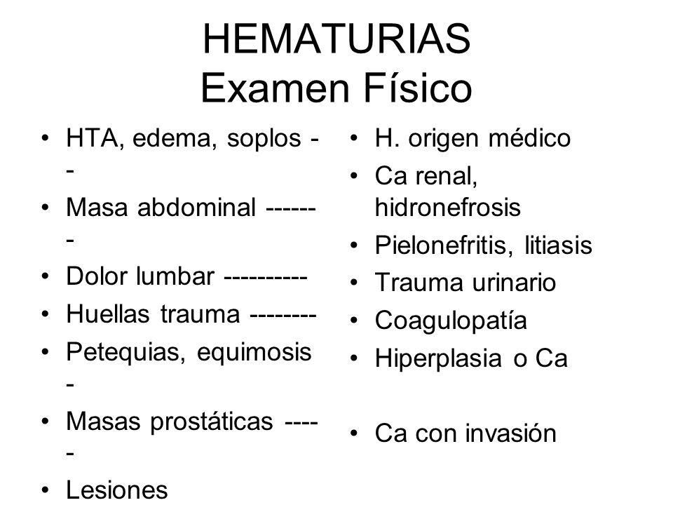 HEMATURIAS Examen Físico
