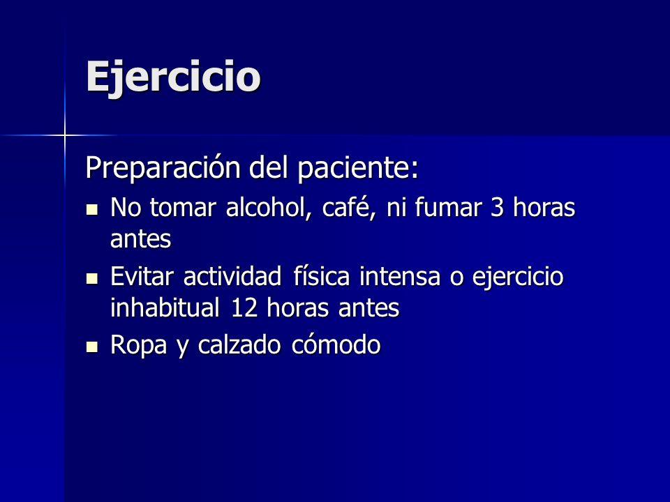 Ejercicio Preparación del paciente: