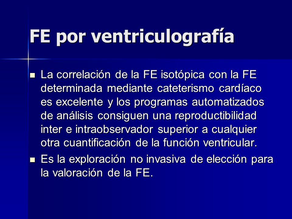 FE por ventriculografía
